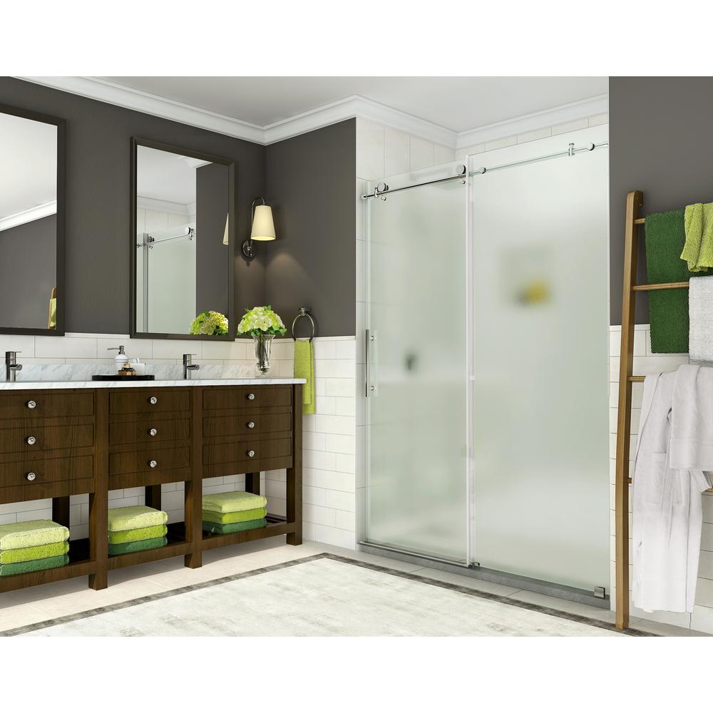 Coraline 56 - 60 in. x 76 in. Completely Frameless Sliding