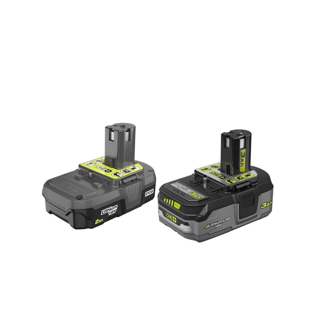 RYOBI 18-Volt ONE+ 2.0 Ah Lithium-Ion Compact Battery and 3.0 Ah Lithium-Ion LITHIUM+ HP High Capacity Battery was $148.0 now $99.0 (33.0% off)