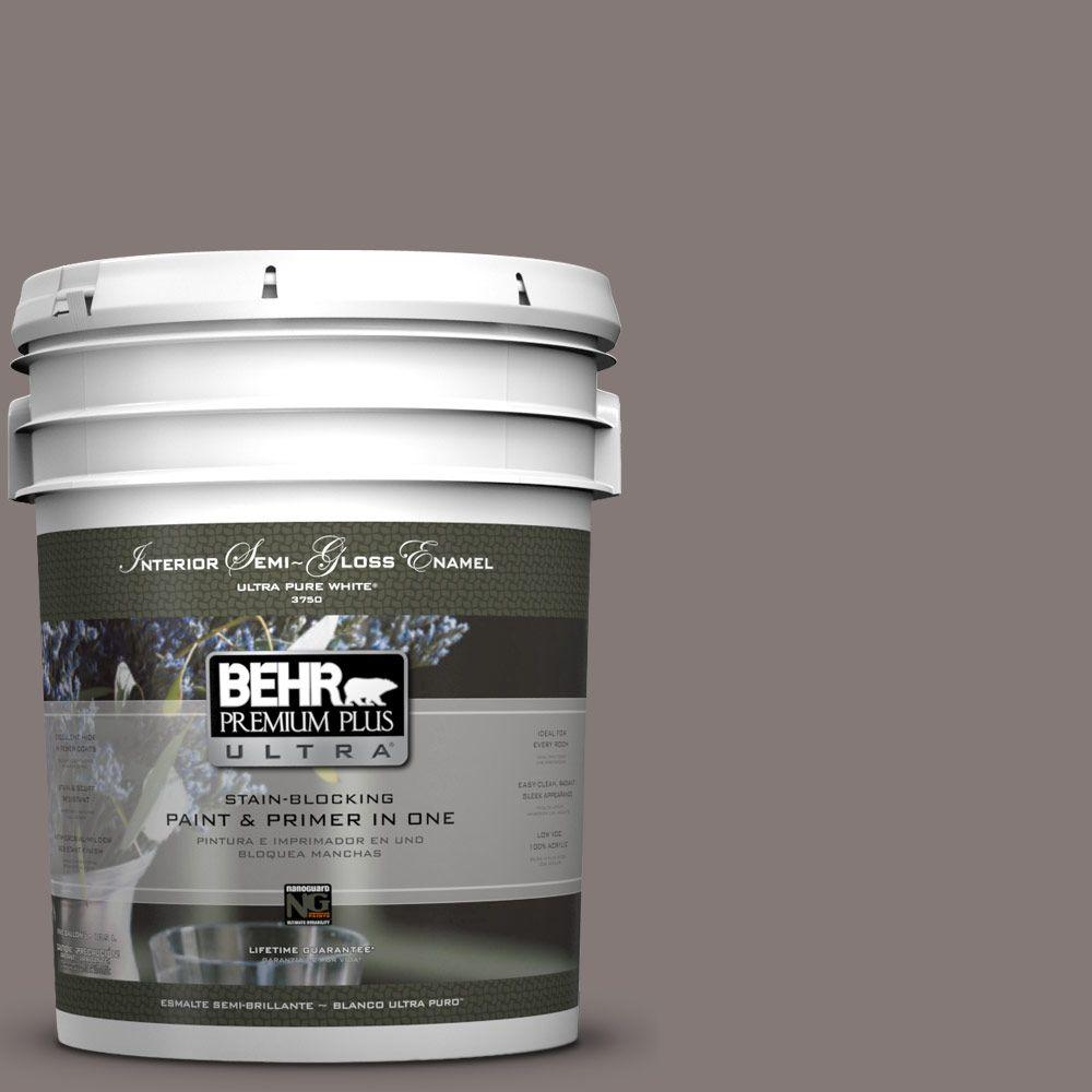 5-gal. #N140-5 Complex Gray Semi-Gloss Enamel Interior Paint