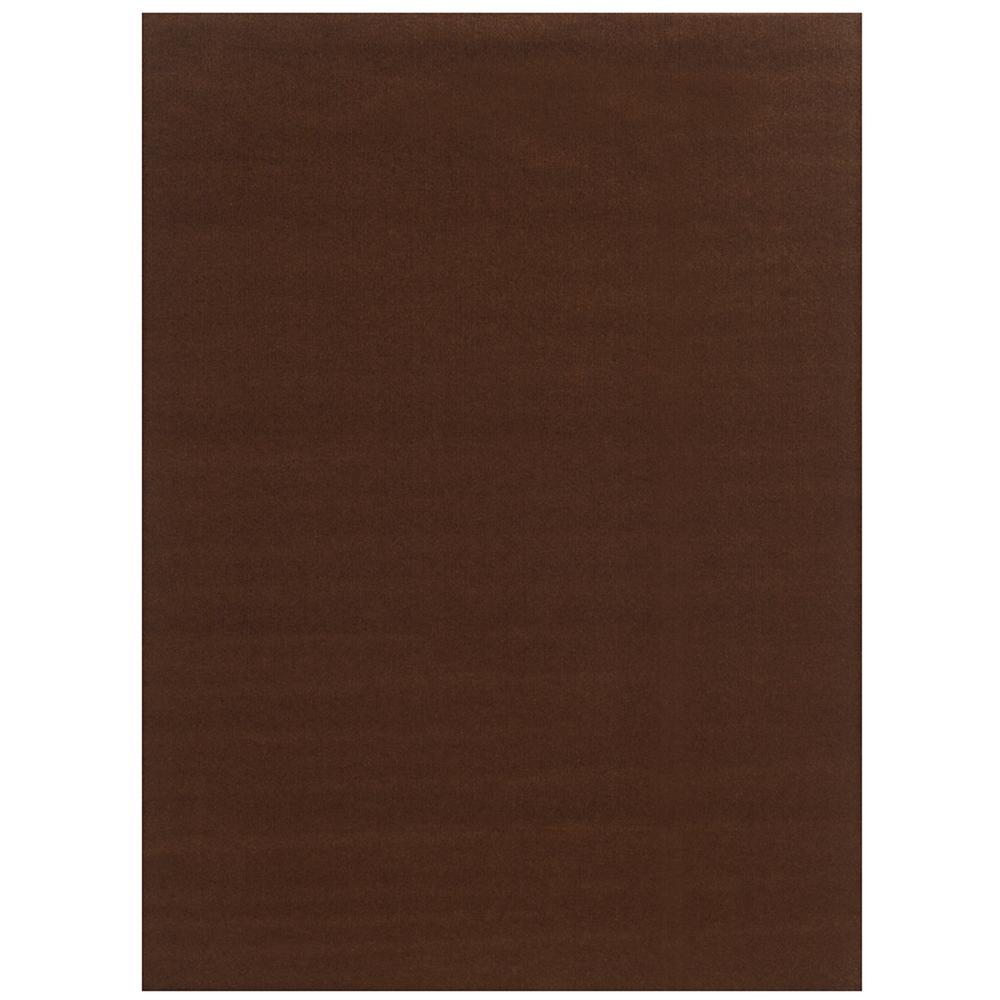 Ribbed Chocolate 6 ft. x 8 ft. Indoor/Outdoor Area Rug