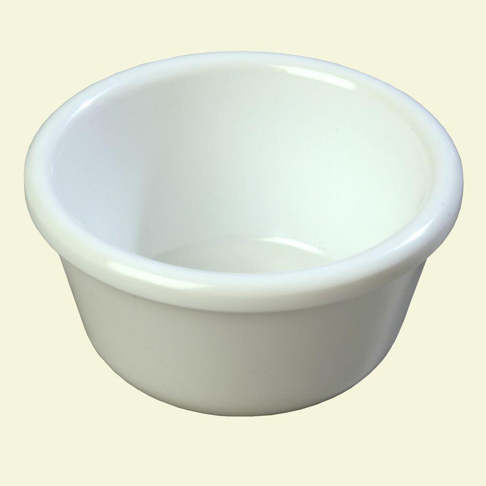 3 oz. Heavy Weight Melamine Smooth Sided Ramekin in White (Case of 48)
