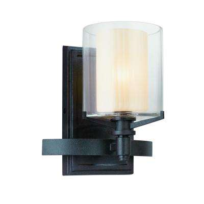 Arcadia 1-Light French Iron Bath Light