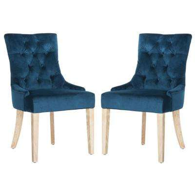 Abby Navy/White Wash Cotton Chair (2-Pack)