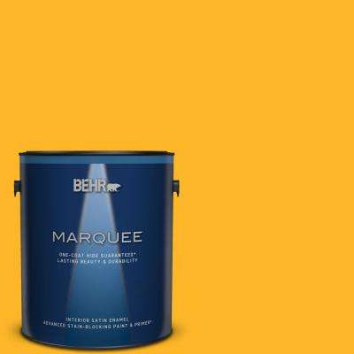 1 gal. #P260-7 Extreme Yellow Satin Enamel Interior Paint and Primer in One