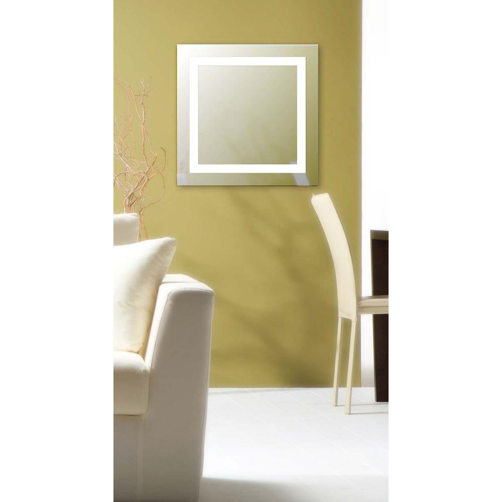 Rifletta 28 in. H x 28 in. W LED Mirror