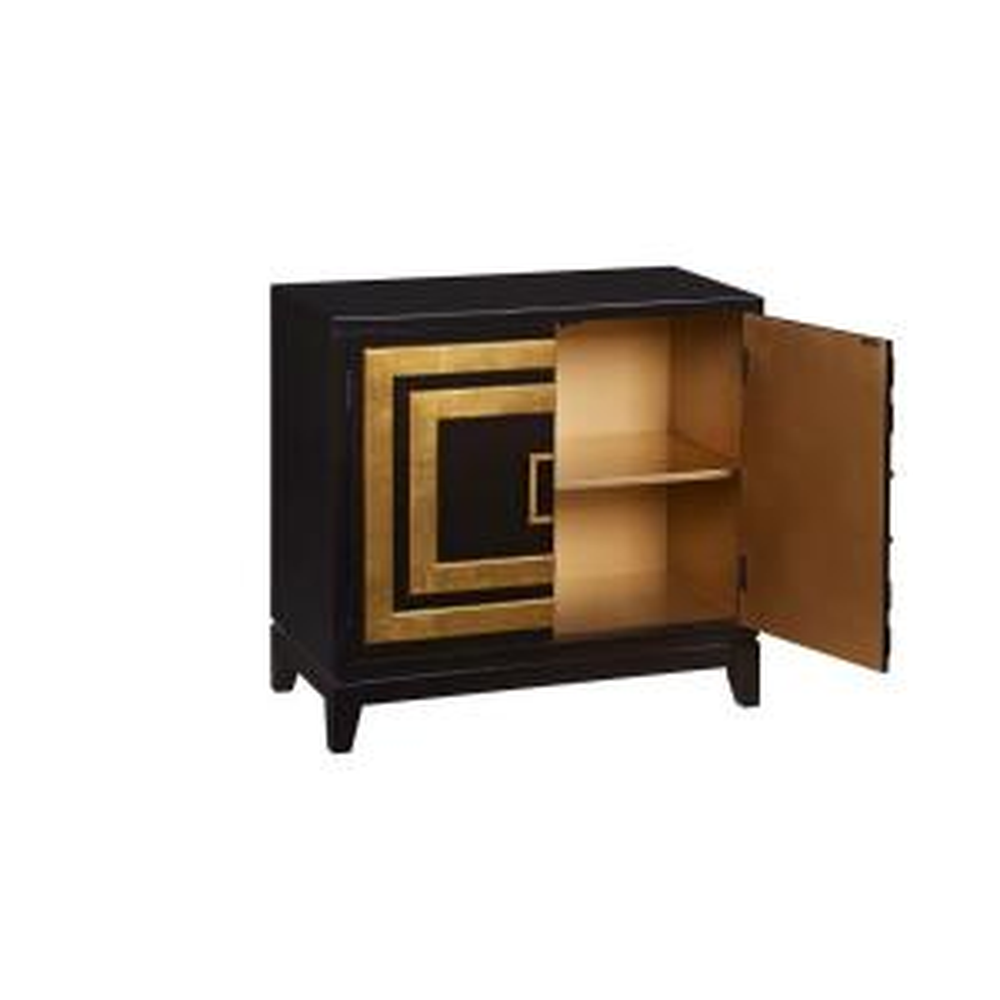 Pulaski Furniture Black and Gold Storage Cabinet-DS-2536-850-1 ...