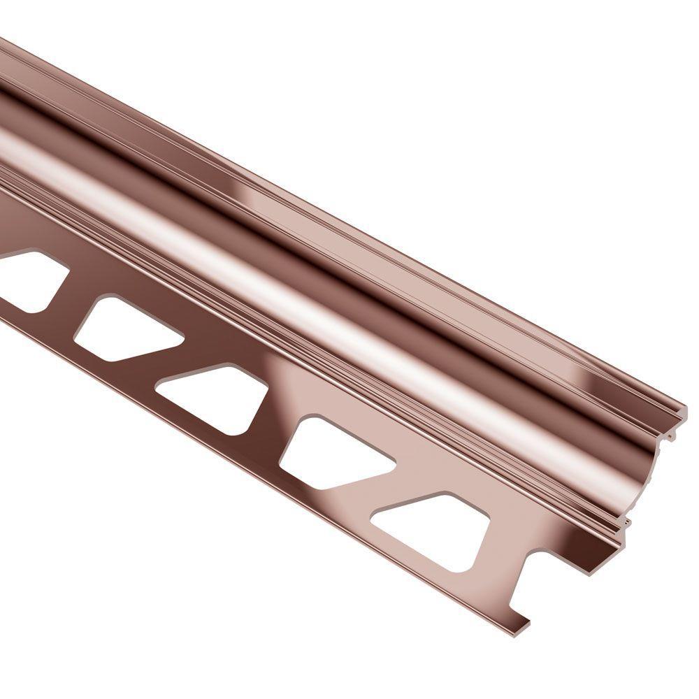 Dilex-AHK Polished Copper Anodized Aluminum 3/8 in. x 8 ft. 2-1/2