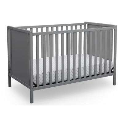 Heartland Classic 4-in-1 Convertible Crib, Grey