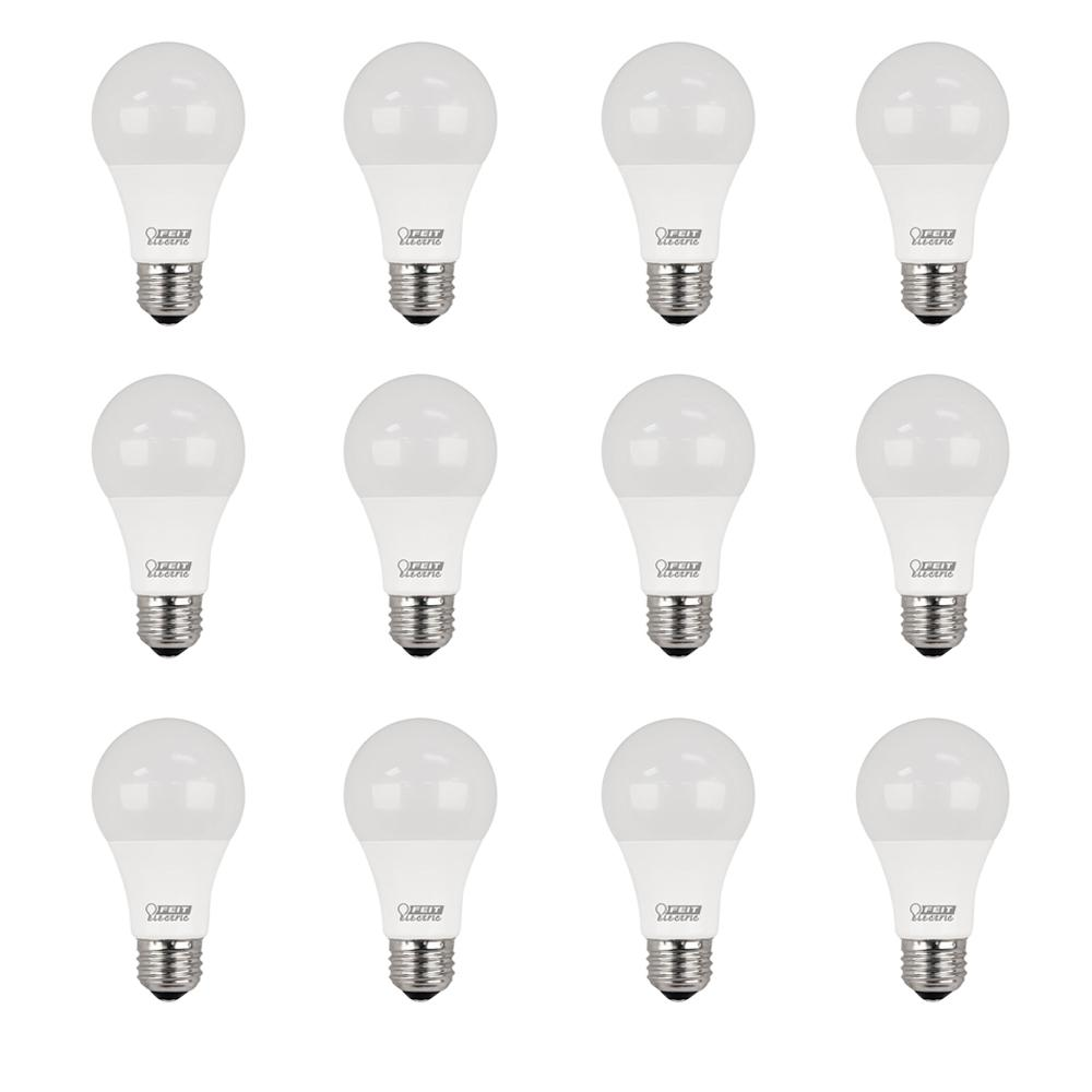 Feit Electric 40w Equivalent Daylight G25 Dimmable Clear: Feit Electric 75W Equivalent Daylight (5000K) A19 Dimmable