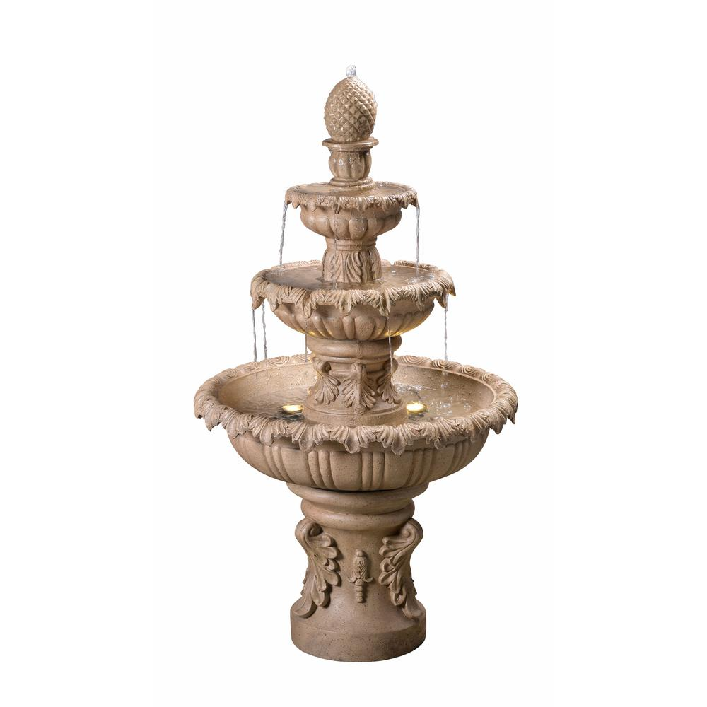 6b33f4a3d0d Kenroy Home Ibiza Resin Outdoor Fountain-51010SNDST - The Home Depot