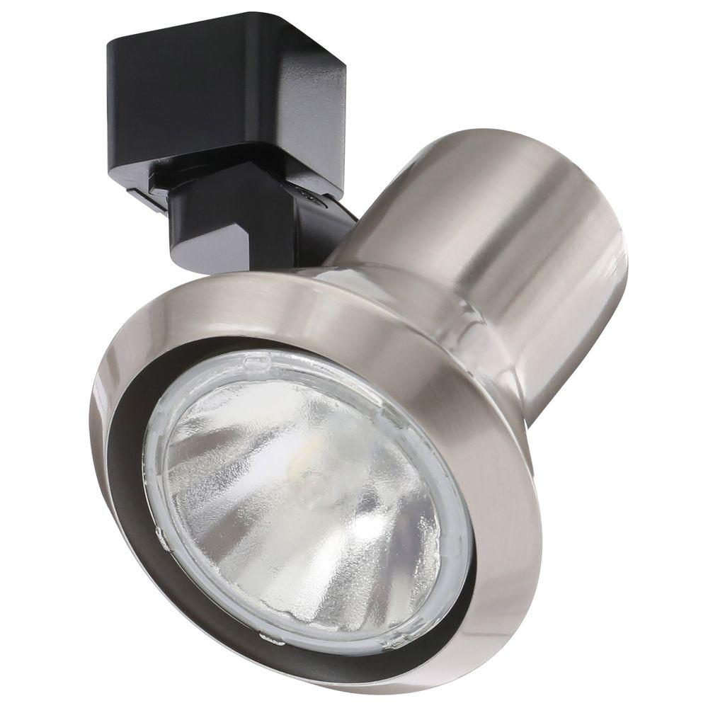 lowest price ff360 725cd Juno 50-Watt Flared Step Satin Chrome Track Lighting