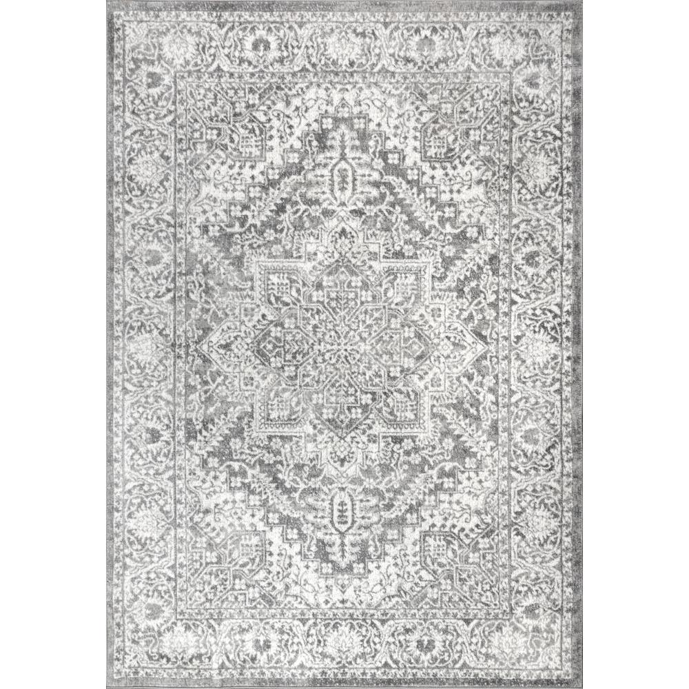 Jonathan Y Modern Persian Vintage Medallion Light Grey 8