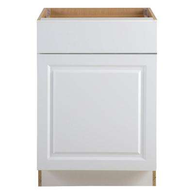 Benton Assembled 24 x 34.5 x 24.5 in. Base Cabinet with Soft Close Full Extension Drawer in White