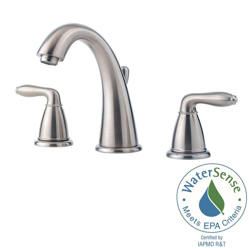 Serrano 8 in. Widespread 2-Handle Bathroom Faucet in Brushed Nickel