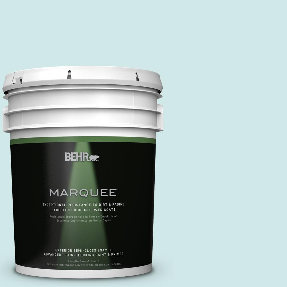 BEHR MARQUEE Home Decorators Collection 5-gal. #HDC-WR14-5 Icicle Mint Semi-Gloss Enamel Exterior Paint