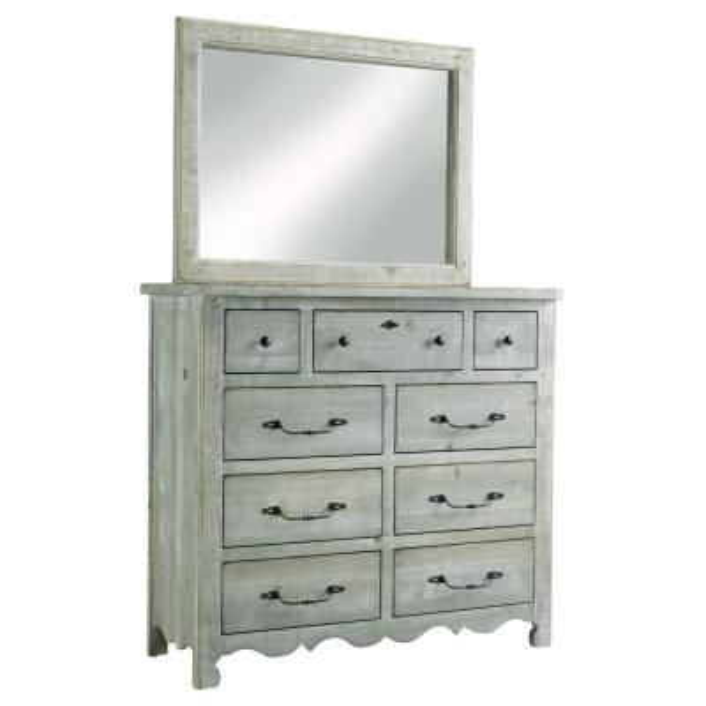 Chatsworth 9-Drawer Mint Dresser with Mirror