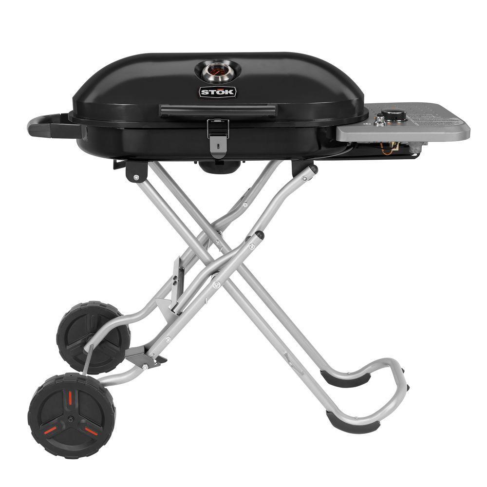STOK Gridiron 348 sq. in. Single Burner Portable Propane Gas Grill in Black with Insert Compatibility