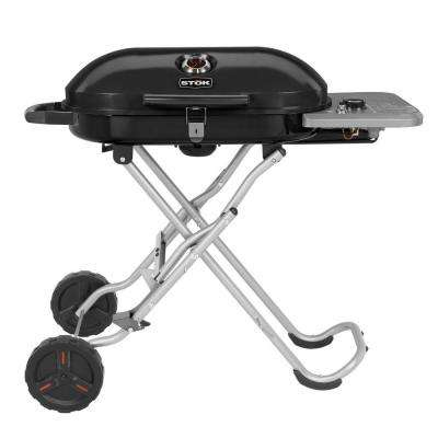 Gridiron 348 sq. in. Single Burner Portable Propane Gas Grill in Black with Insert Compatibility