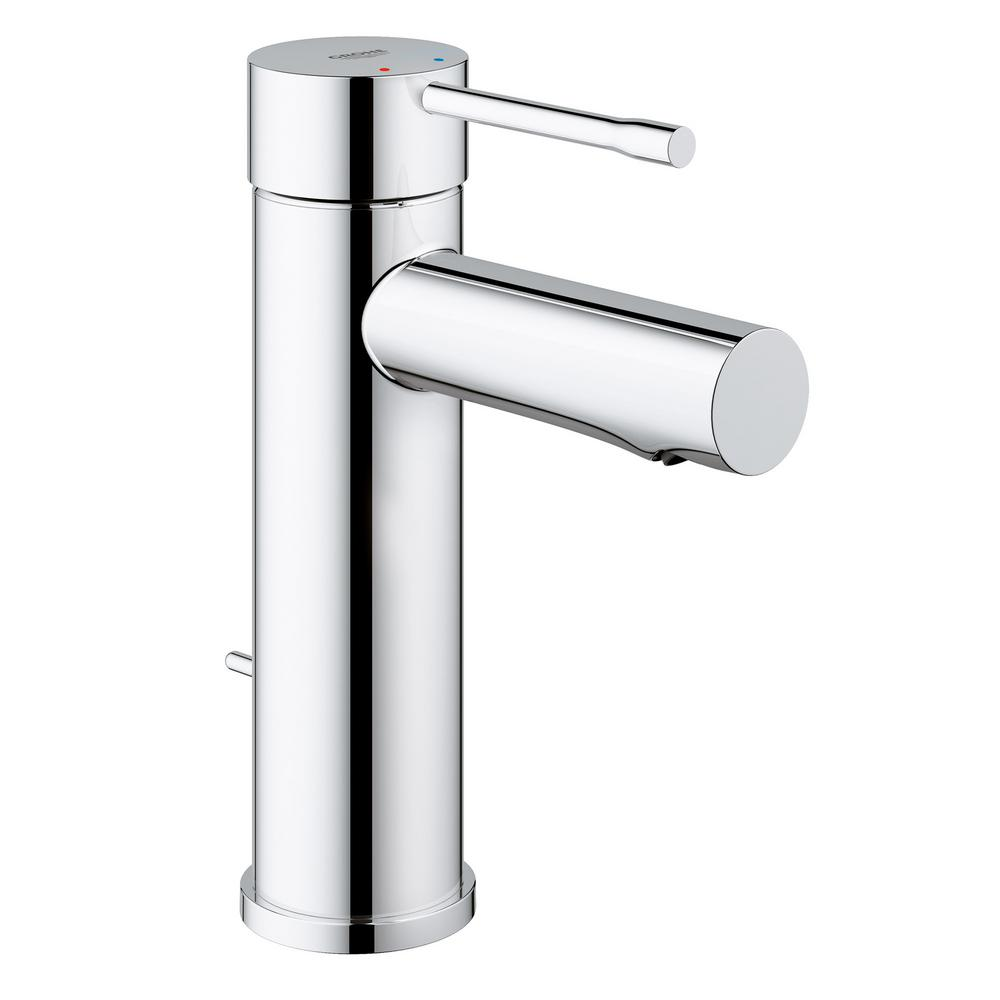 grohe essence new single hole single handle 1 2 gpm low arc bathroom faucet in starlight chrome. Black Bedroom Furniture Sets. Home Design Ideas