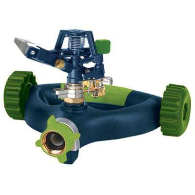 Metal Pulsating Sprinkler on Deluxe Modern Wheel Base