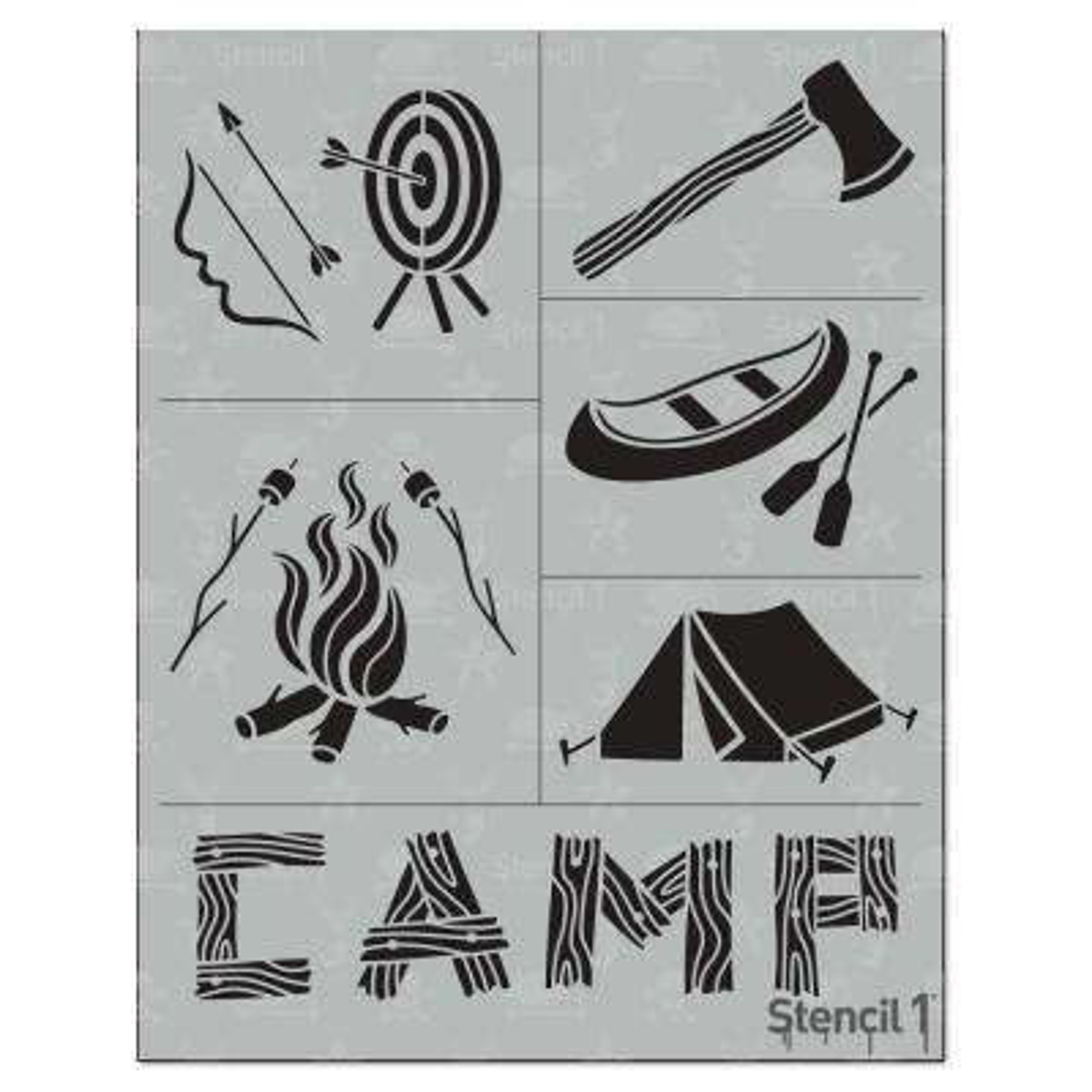 Camp Stencil (6-Pack)
