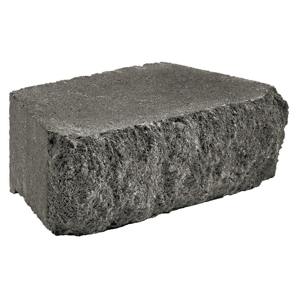 Carlton 3 in. x 10 in. x 6 in. Charcoal Concrete Retaining Wall Block
