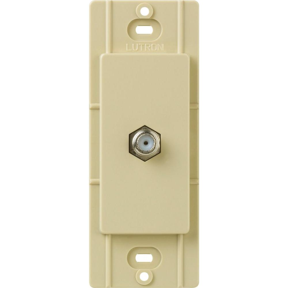 Claro Coaxial Cable Jack - Ivory
