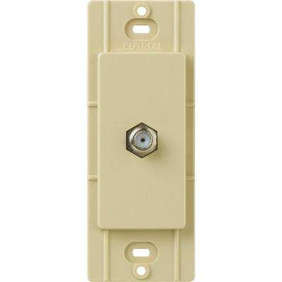 Claro Coaxial Cable Jack, Ivory
