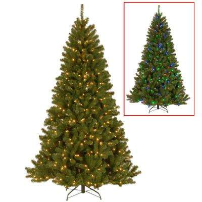 7.5 ft. PowerConnect North Valley Spruce Artificial Christmas Tree with Dual Color LED Lights