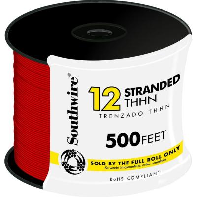 500 ft. 12 Red Stranded CU THHN Wire
