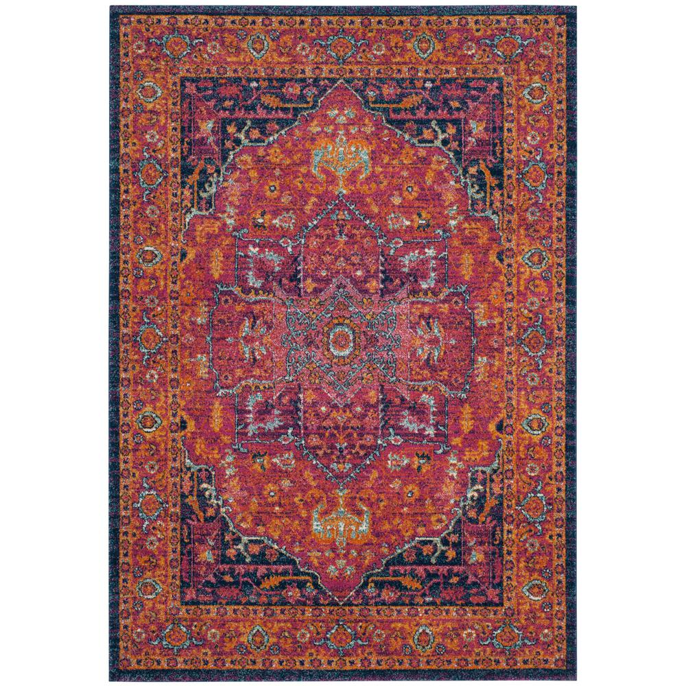 safavieh evoke blue orange 6 ft 7 in x 9 ft area rug evk230s 6 the home depot. Black Bedroom Furniture Sets. Home Design Ideas