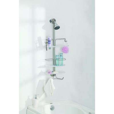 3 Tier Adjustable Shower Caddy, Satin Nickel Finish