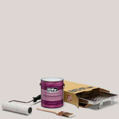 1 gal. #N320-1 Campfire Ash Ultra Eggshell Enamel Interior Paint and 5-Piece Wooster Set All-in-One Project Kit