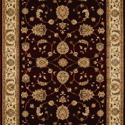 Dynasty Burgundy 2 ft. 7-1/2 in. x Your Choice Length Finished Roll Runner
