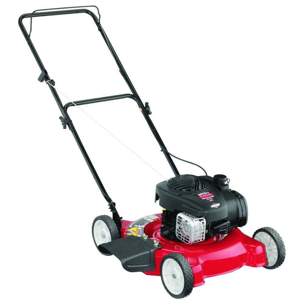 Mtd Mtd 20 In 125cc Ohv Briggs Stratton Walk Behind Gas Push Mower 11a 02bt706 The Home Depot