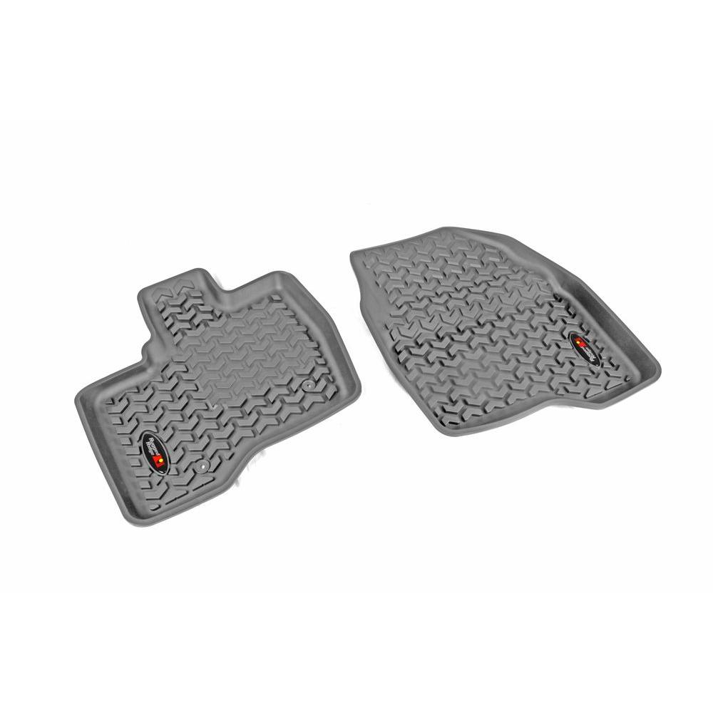 Rugged Ridge Floor Liner Front Pair Gray 2011-2014 Ford Explorer