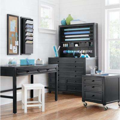 Craft Space 42 in. W 8-Drawer Flat File Cabinet in Silhouette