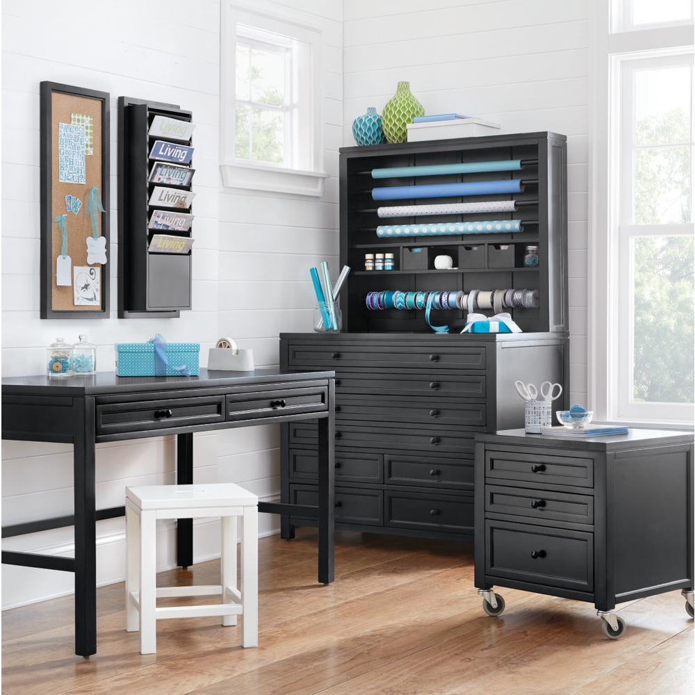 Martha Stewart Living Craft Space Silhouette Black 8 Drawer Flat