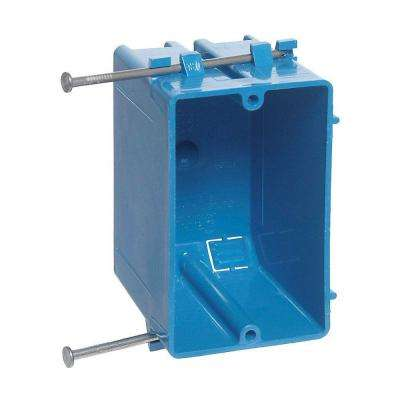 1-Gang 18 cu. in. Blue PVC New Work Switch and Outlet Box (Case of 100)