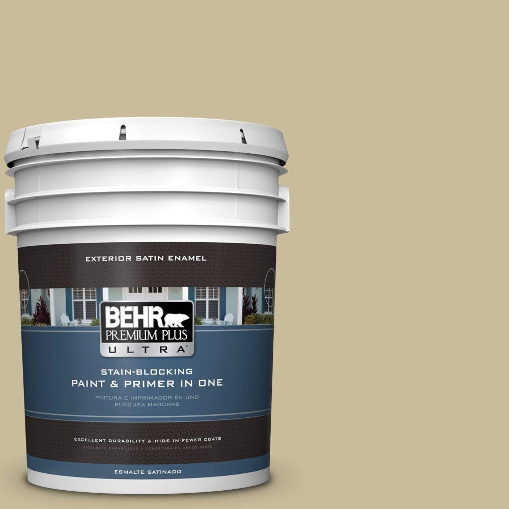 BEHR Premium Plus Ultra 5-gal. #PPU8-9 Tea Bag Satin Enamel Exterior Paint