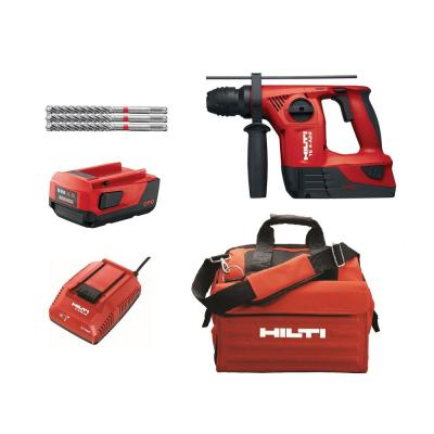 22-Volt Lithium-Ion TE 4 Cordless Rotary Hammer with Two 4.0 Ah Batteries, Charger, Bits and Bag