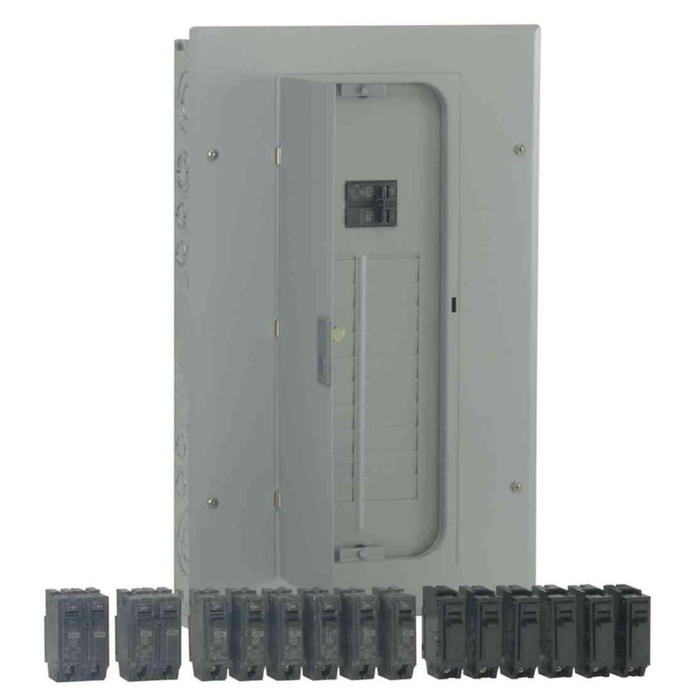 GE PowerMark Gold 100 Amp 20-Space 20-Circuit Indoor Main Breaker Value Kit Includes Select Circuit Breakers