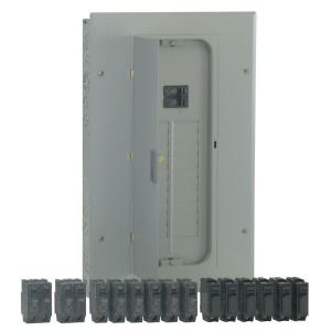 PowerMark Gold 100 Amp 20-Space 20-Circuit Indoor Main Breaker Value Kit Includes Select Circuit Breakers