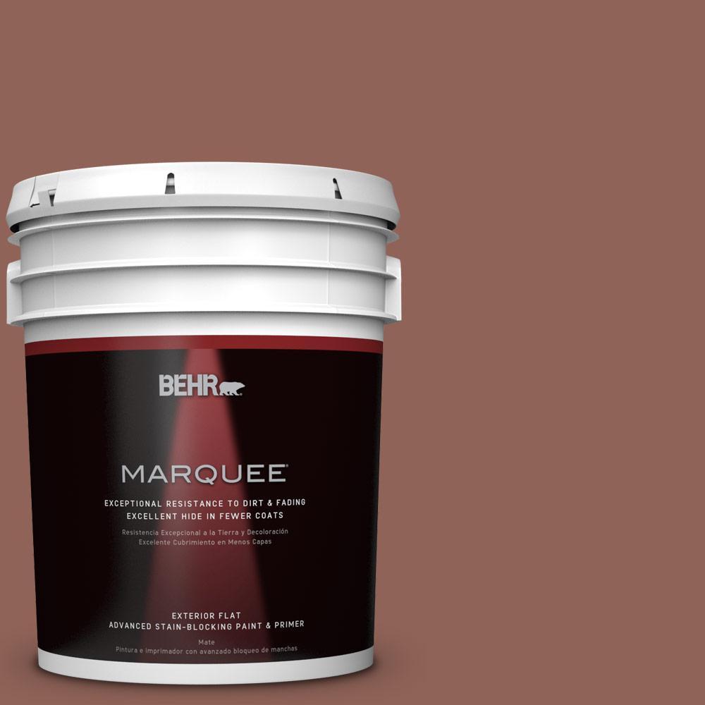 BEHR MARQUEE 5-gal. #BXC-57 Raw Sienna Flat Exterior Paint