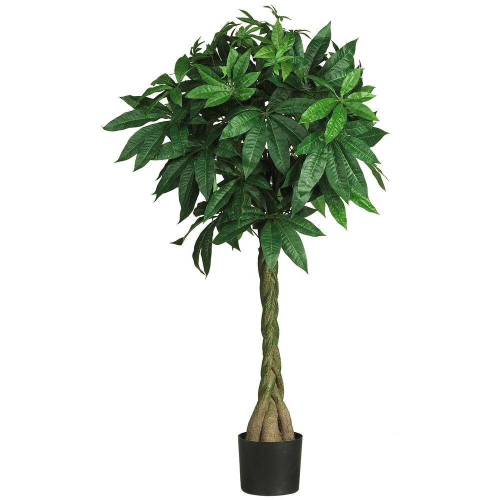 Nearly Natural 51 in. Bonsai Style Money Silk Tree