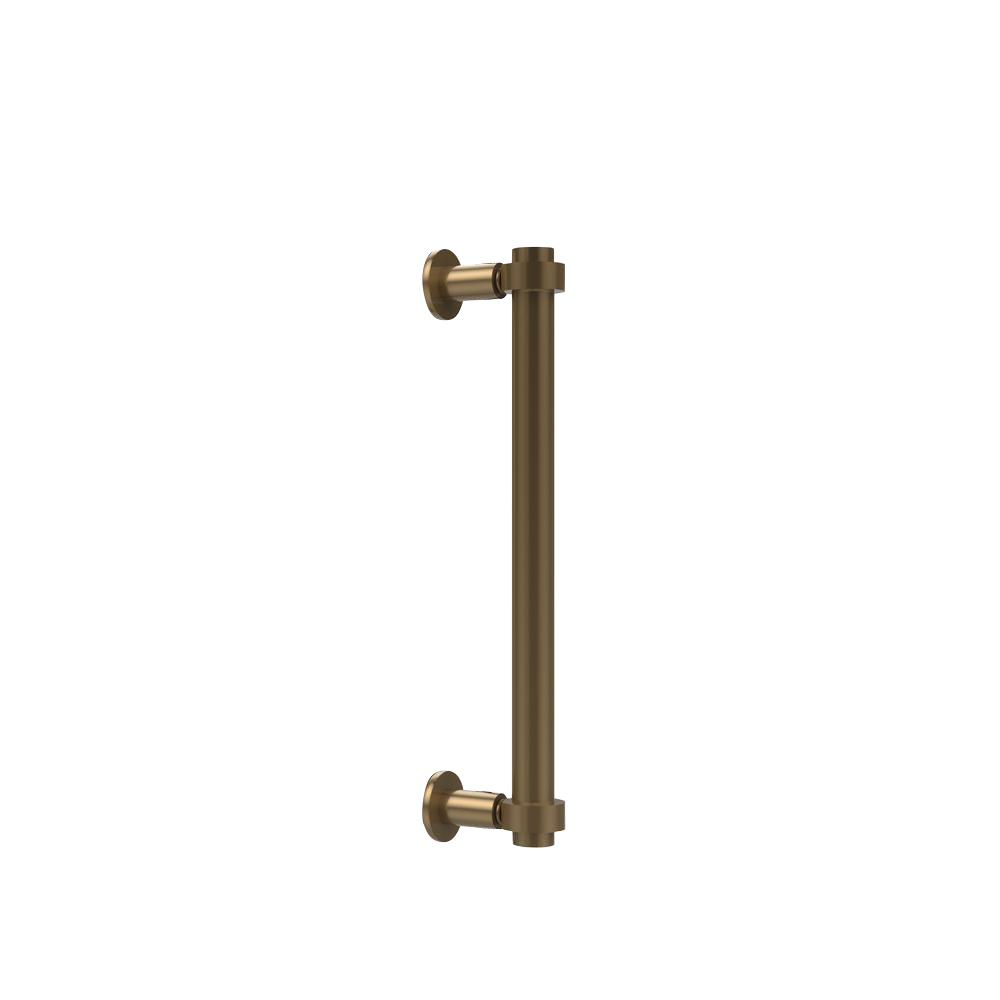 Contemporary 12 in. Back to Back Shower Door Pull in Brushed