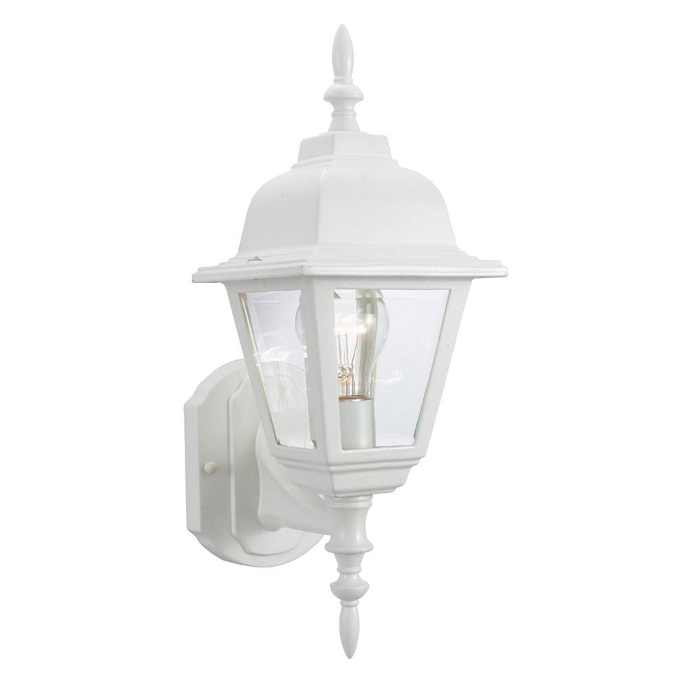 Maple Street White Outdoor Wall Lantern Sconce