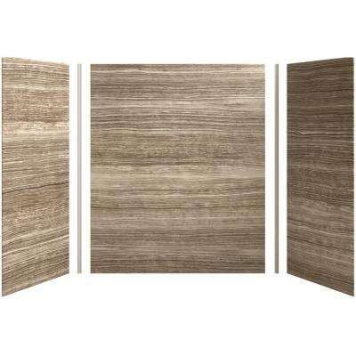 Choreograph 60in. X 36 in. x 72 in. 5-Piece Bath/Shower Wall Surround in VeinCut Sandbar for 72 in. Bath/Showers
