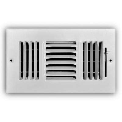8 in. x 4 in. 3-Way Wall/Ceiling Register