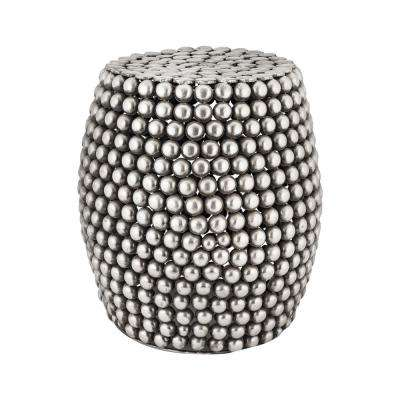 18 in. Pewter Pebble Bar Stool